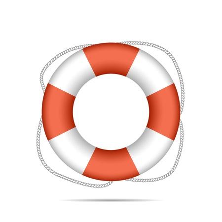 Lifebuoy isolated on white background vector illustration Vector