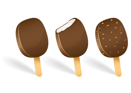 Set of tasty ice cream isolated on white background vector illustration Stock Vector - 14485883
