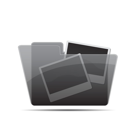 folder with photos vector illustration Stock Vector - 14485889