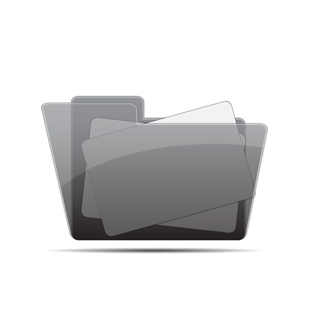 Documents in folder vector illustration Stock Vector - 14485888
