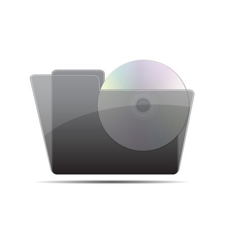 disk in the folder vector illustration Stock Vector - 14485890