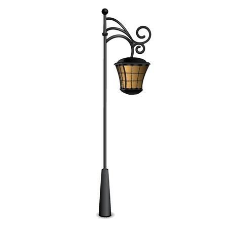 lamppost: Street lantern vector illustration Illustration