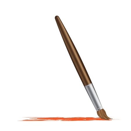 Paint brush vector illustration Stock Vector - 14574801