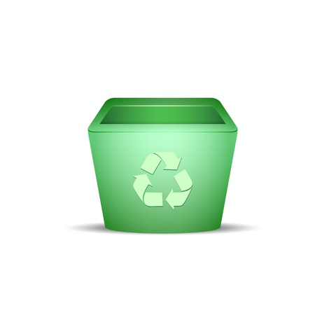 Plastic recycle trash can vector illustration Stock Vector - 14601247