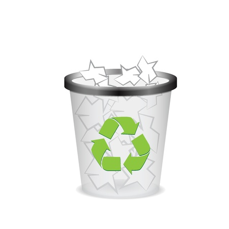 Plastic recycle trash can Stock Vector - 16429505