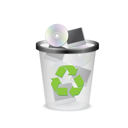 a basket of rubbish for recycling vector Stock Vector - 14601254