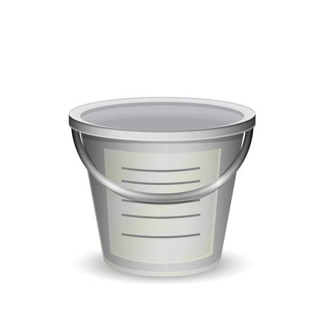 decorative urn: Metal bucket vector illustration