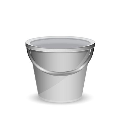 emmer water: Metalen emmer vector illustratie