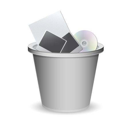 a basket of rubbish vector illustration Stock Vector - 14601251