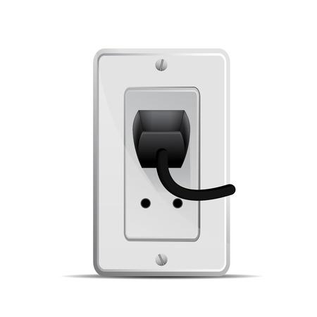 amperage: electric socket  illustration Illustration