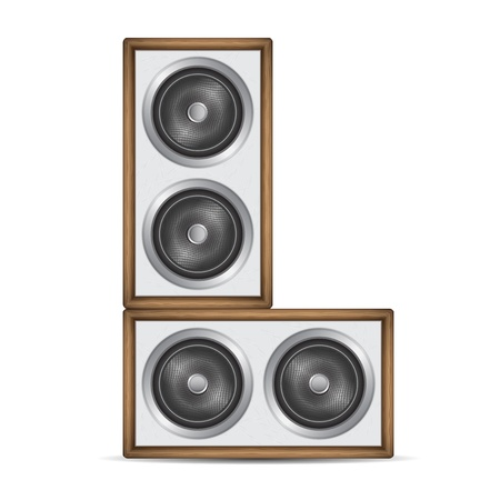 Two speakers isolated on white background illustration