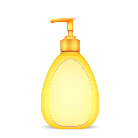 toiletry: bottle of liquid soap isolated Illustration