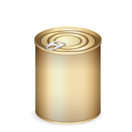Tin can isolated on white Stock Vector - 16429499