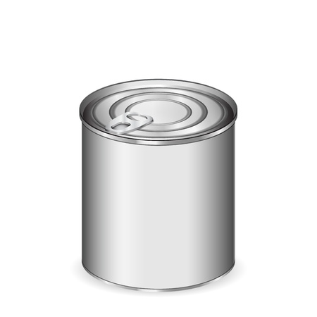 Tin can isolated on white Vector