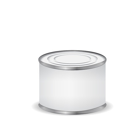 Tin can isolated on white Stock Vector - 16429496