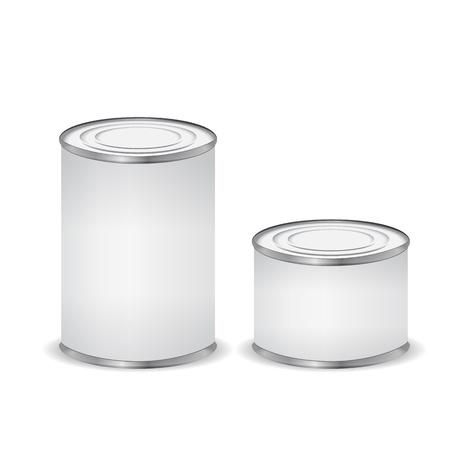 latas: Las latas aislados en blanco Vectores