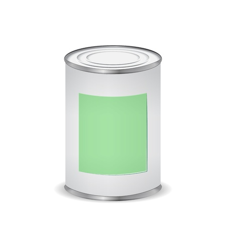 paint color tin can Illustration