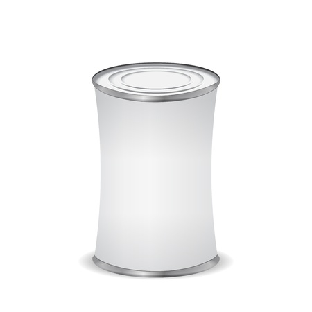 Tin can isolated on white Stock Vector - 16429508