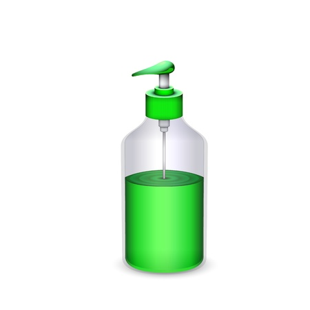 bottle of liquid soap isolated Vector