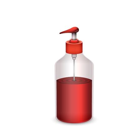 bottle of liquid soap isolated Illustration