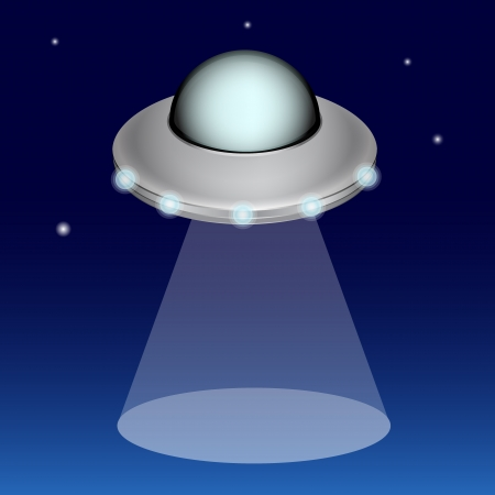 Ufo at night Stock Vector - 16603362