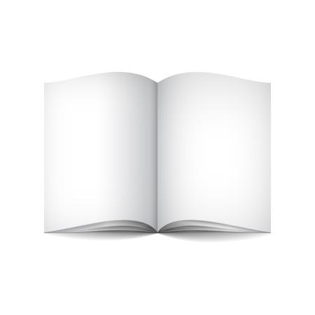Empty white books Stock Vector - 18563268