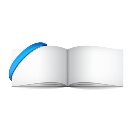 Empty white books with ribbon Vector