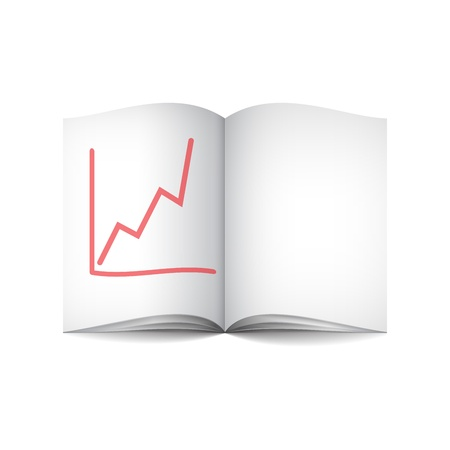 book and graph Stock Vector - 18563263