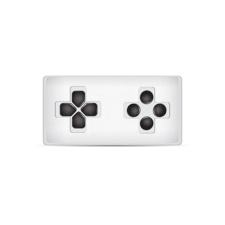 Game pad isolated on a white  Vector