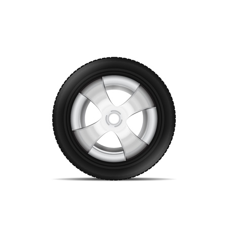 motor coach: aluminum rim isolated Illustration