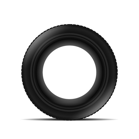 Tyre over white background Vector