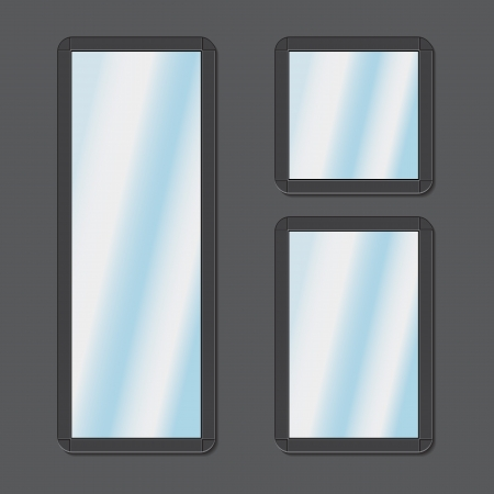mirrors set vector Stock Vector - 18619480