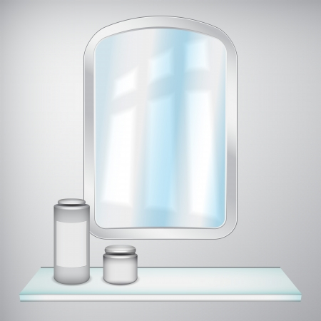 Mirror and cosmetics Vector