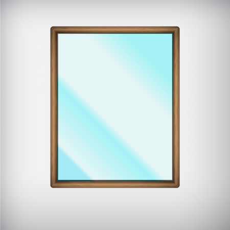 Mirror isolated Stock Vector - 18619527