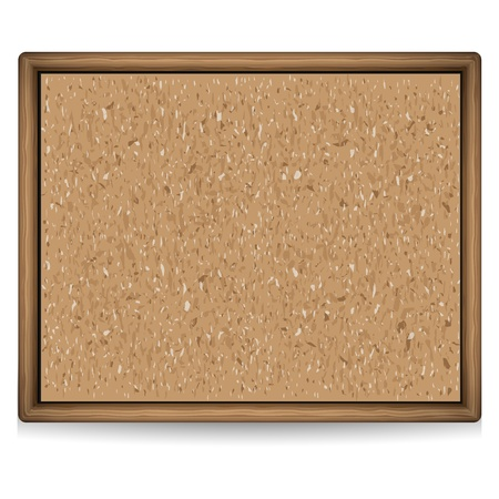Blank cork board illustration Illustration