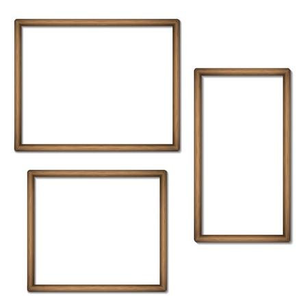 marco madera: Marcos vacíos de ilustración madera Vectores