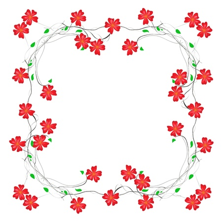 floral decorative framed paper Stock Vector - 20182611