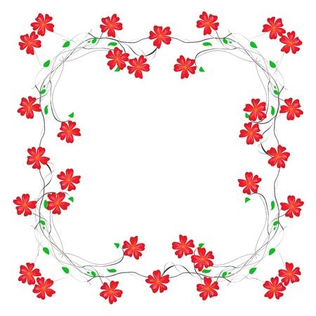 cadre: floral decorative framed paper