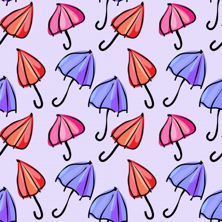 seamless pattern with colorful umbrellas Vector