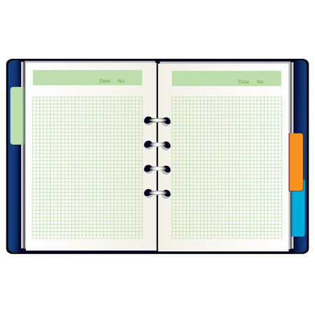 tabbed folder: Open notebook
