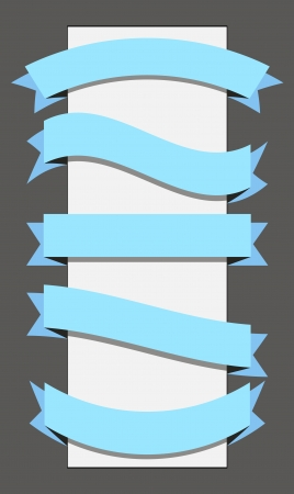 wrapped corner: template ribbon banner