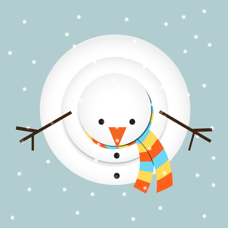 snowman looking up Vector
