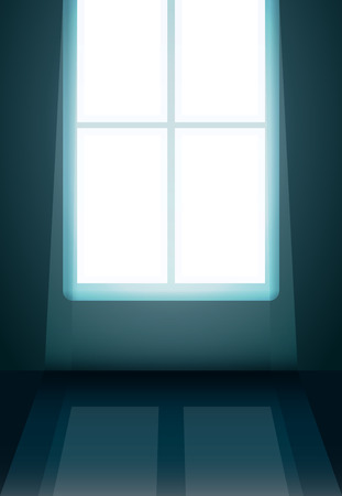 white light in the window