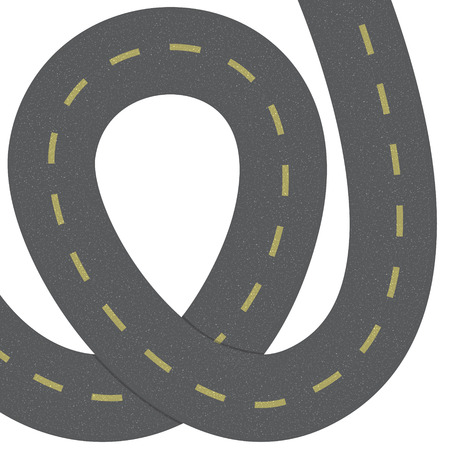 range of motion: Curved road