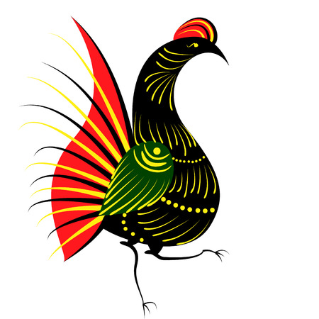 bird in the Russian style Vector