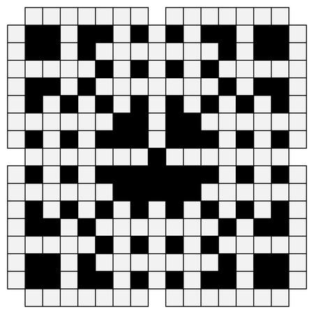 black and white crossword Illustration