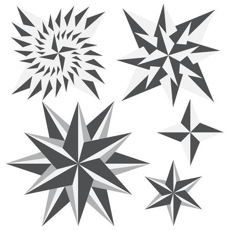 graphics star set Illustration