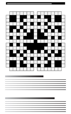 Newspaper crossword Vector