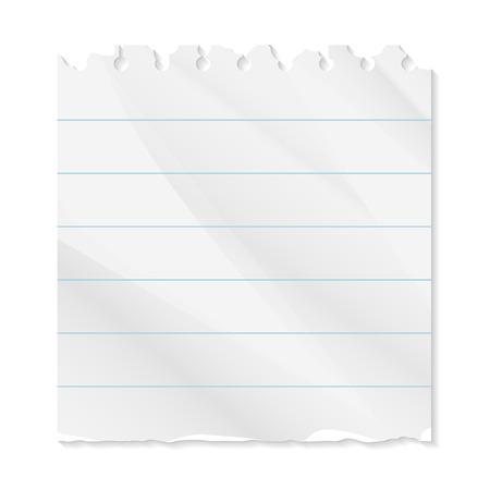 torn paper line