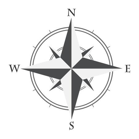 white rose: compass Illustration